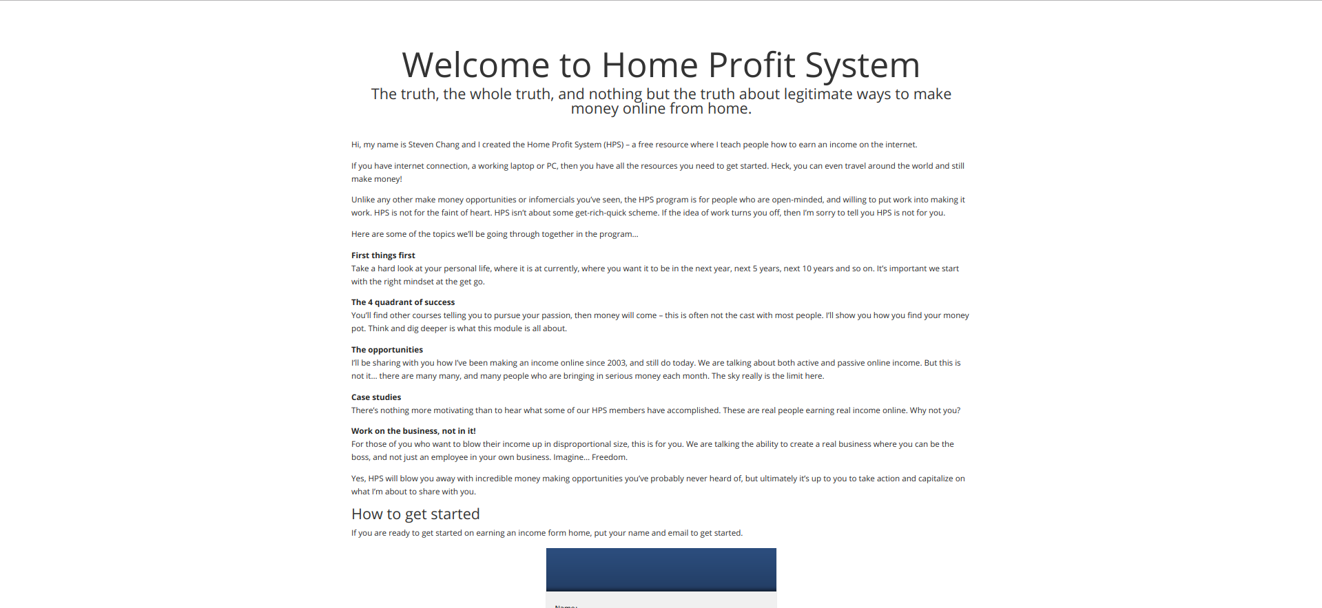 Home Profit System Official Website