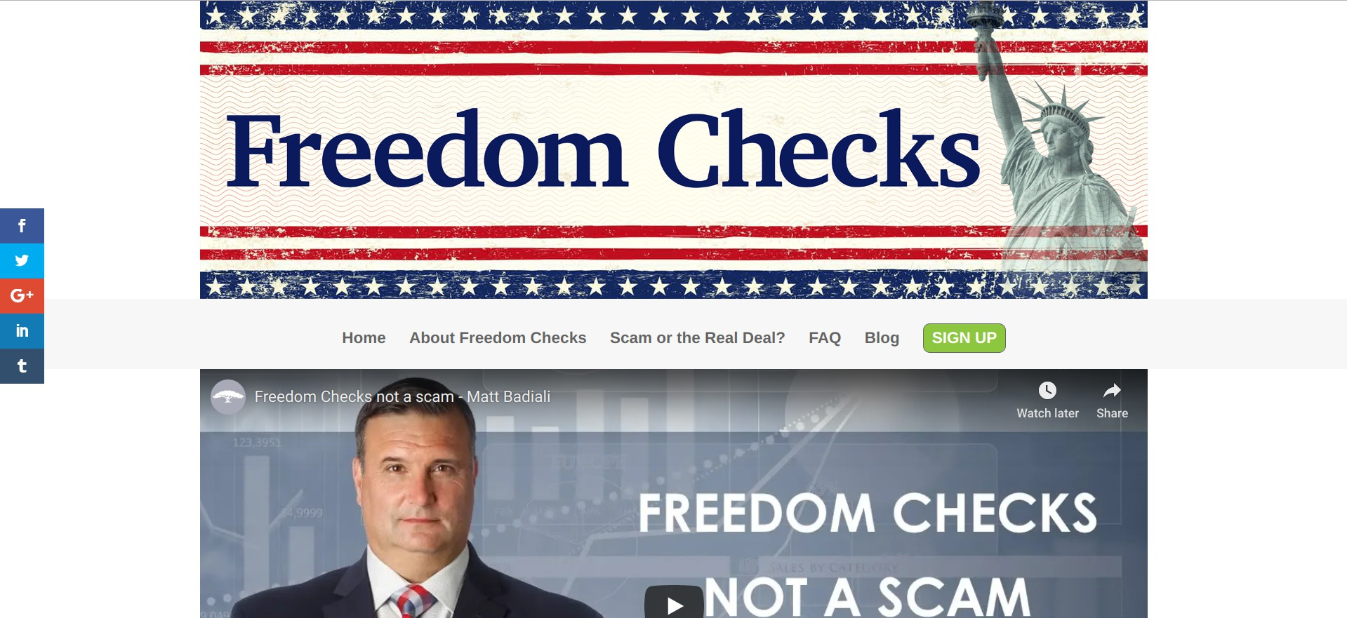 Freedom Checks Scam or Legit