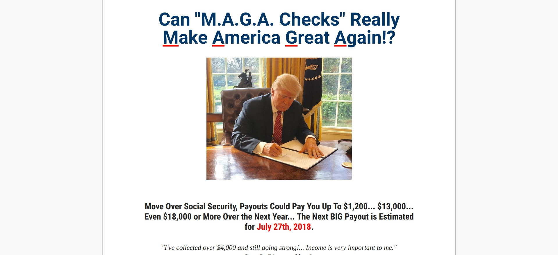 Maga Checks Scam or Legit