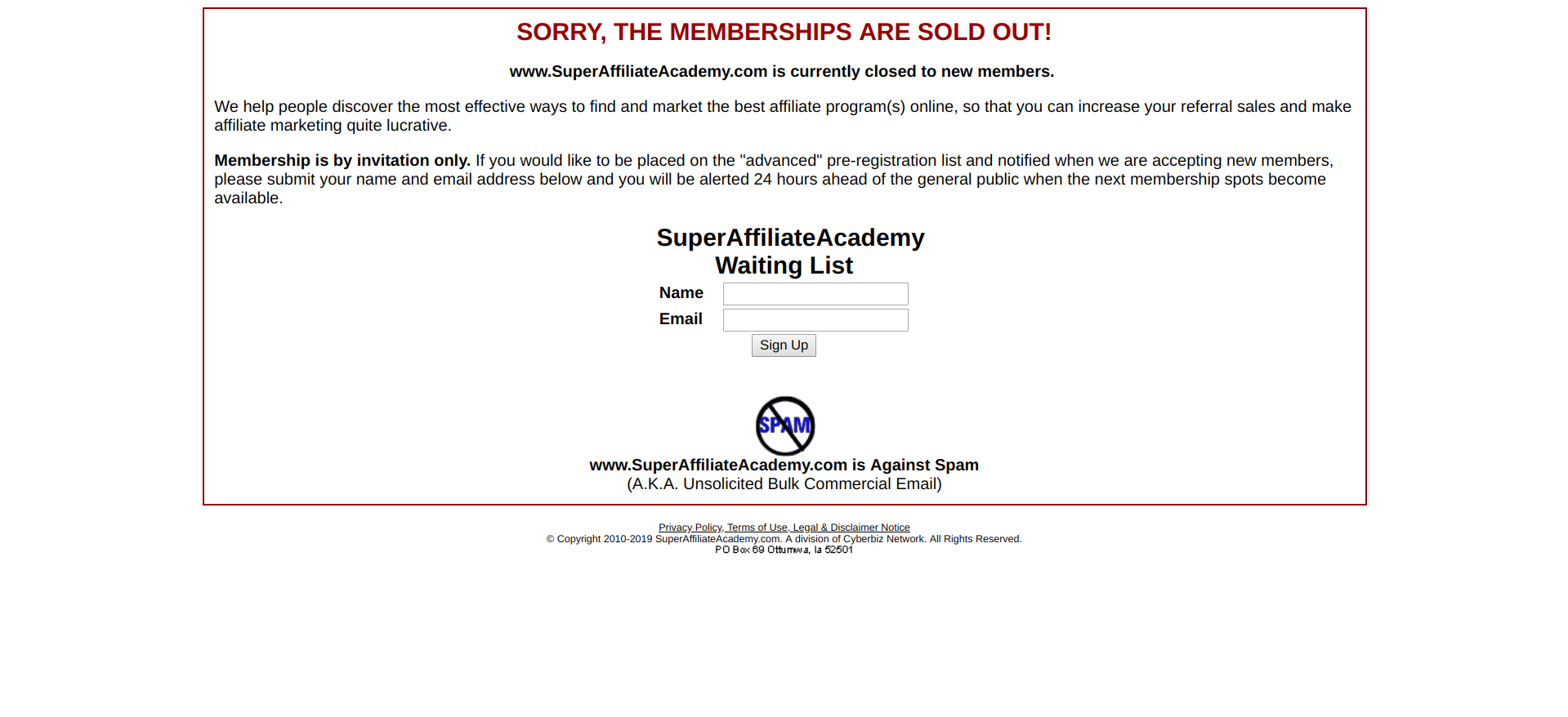 Super Affiliate Academy Scam or Legit