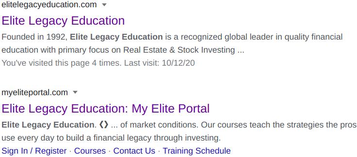 Elite Legacy Education Reviews
