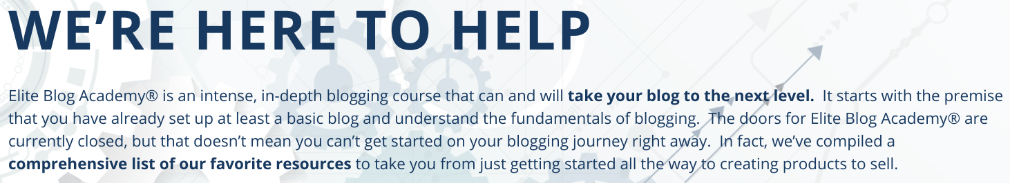 What is Elite Blog Academy About