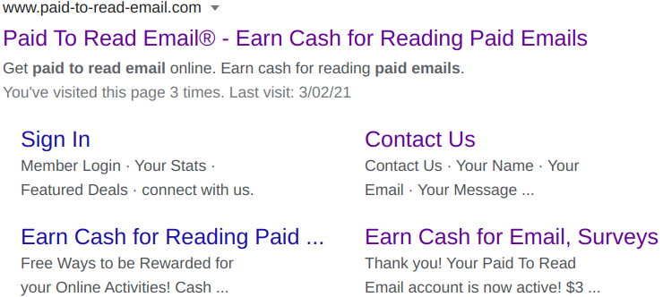 Paid To Read Email Legit