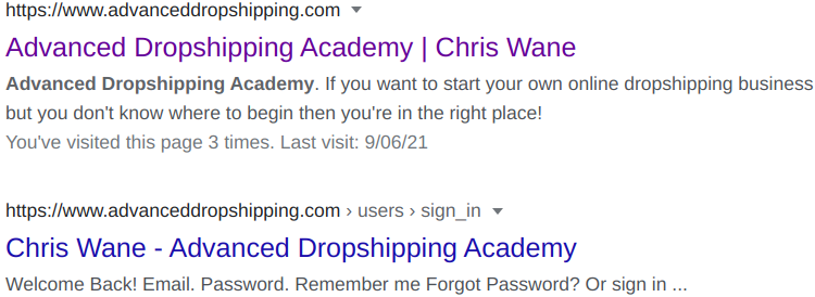 Advanced Dropshipping Academy