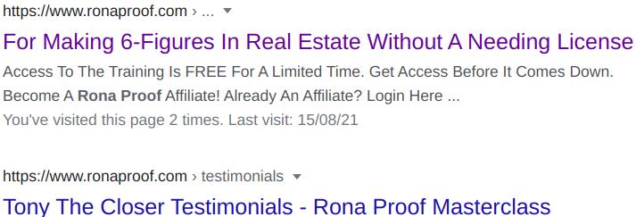 Rona Proof